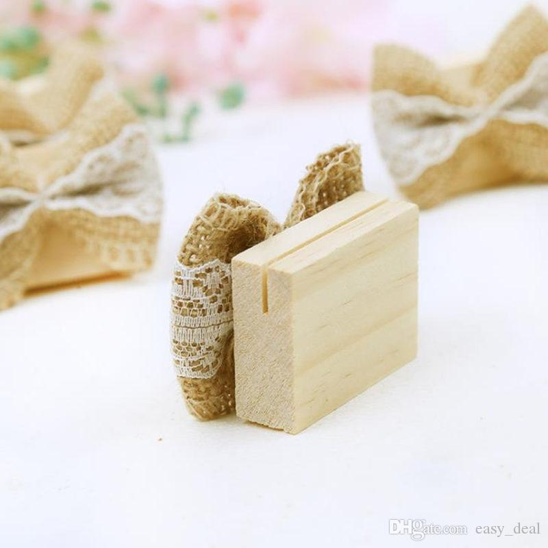 Tema rustico tela di juta posto titolare della carta tavolo in legno titolare della carta tela decorazione matrimonio supplie regali festa F20173113