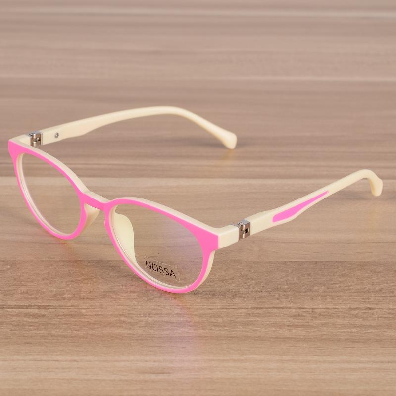 Compre Crianças Óculos Crianças TR90 Flexível Simples Óculos De Armação  Óptica Prescrição Armações De Óculos Meninas Meninos Rosa Azul Oval Óculos  De Juemin ... 8f7fe8560a