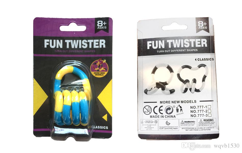 100 adet / grup Gökkuşağı halka twister Oyuncak Yeni dekompresyon oyuncaklar sarma çeşitli dekompresyon oyuncaklar büküm halka dhl ücretsiz