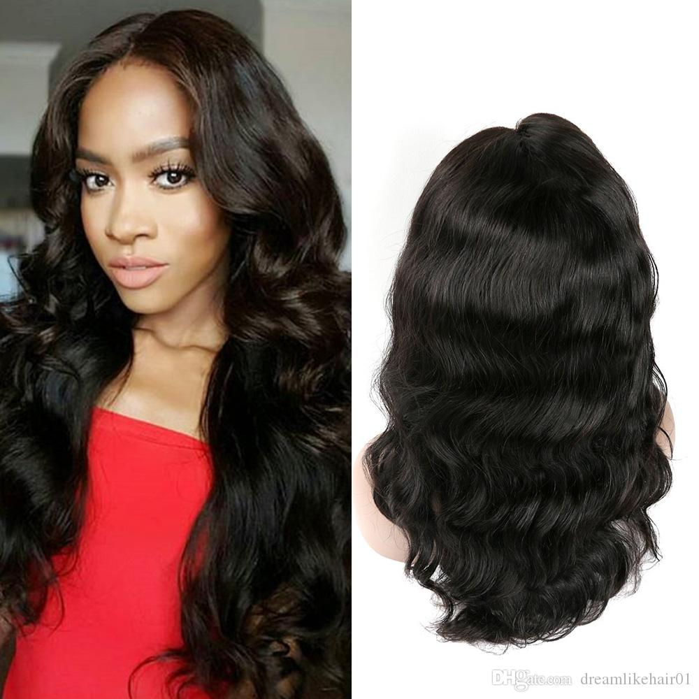 Hot Selling Body Wave Human Hair Wigs For Black Women 100% Unprocessed  Virgin Hair Wigs Pre Plucked With Baby Hair Lace Front Wigs Curly Lace Wig  Curly Hair ... 9207a858cb