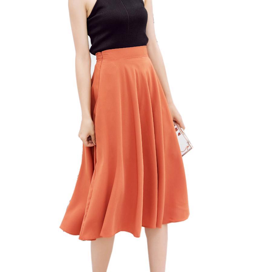 bd63b52e8 Black And White High Waisted Pleated Skirt – DACC