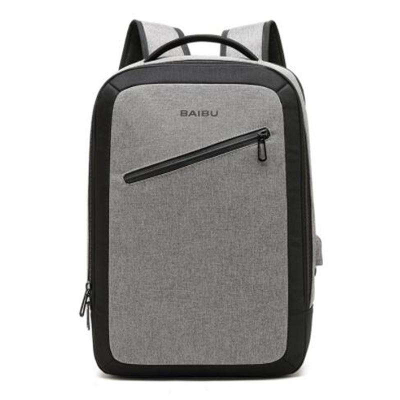 24ecbd0670d6 BAIBU Men Backpack Anti theft New 15.6inch USB Charging Big Laptop Backpack  Women Fashion Waterproof School Bags For Teenagers