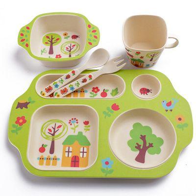 2018 whosale baby plate bowl set dinnerware feeding set kids plate