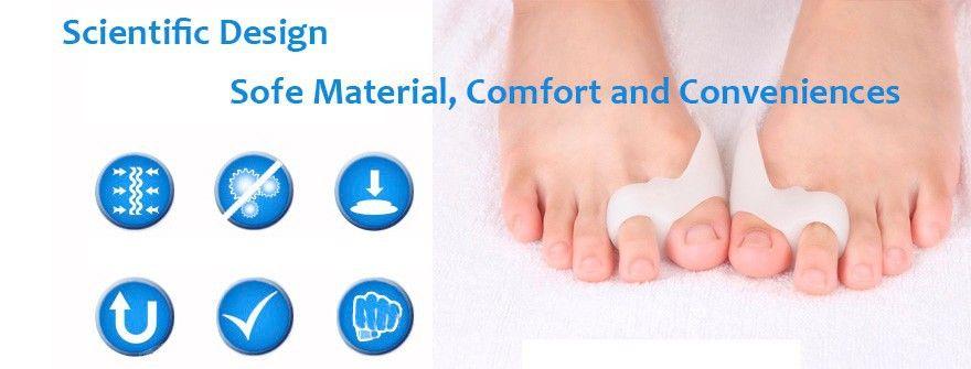 DHL ship Silicone Gel foot fingers Toe Separator Thumb Valgus Protector Bunion adjuster Hallux Valgus Guard feet care