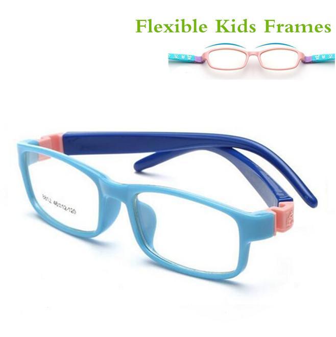 32a1ebac56 2019 TR Eyeglasses Kids Frames Eyewear Optical Glasses Prescription Glasses  Children Flexible Rubber No Screw Bendable Amblyopia 8812 From Haroln