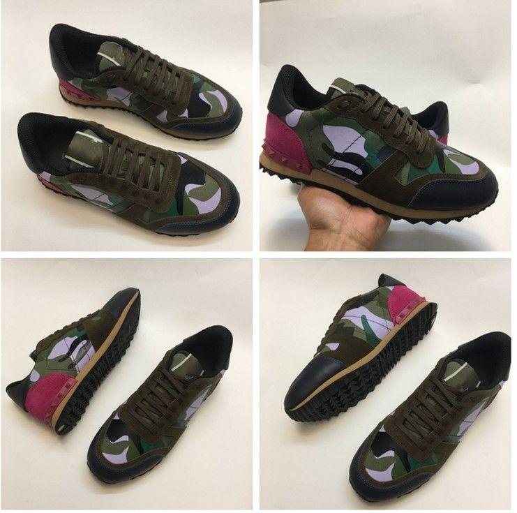ef5a6bfa53bb9b hot Free Shipping 2017 new Fashion genuine leather men shoes Designer  fashion luxury brand V luxury trainers camouflage man casual shoe