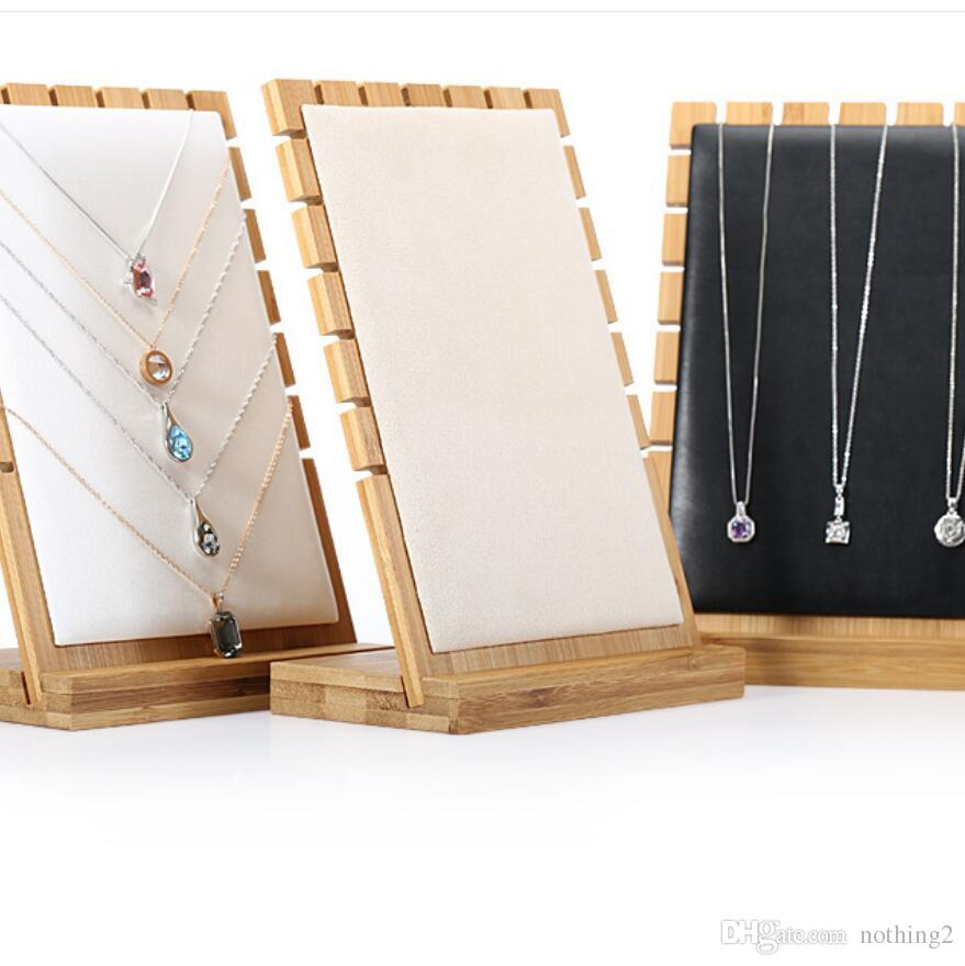 Jewellery Stand Designs : Designer jewelrt display bamboo stand simple for necklace jewelry