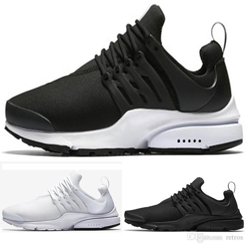 78a8c3804e87a Wholesale 2018 Presto Running Shoes Men Triple Black White Ultra ...