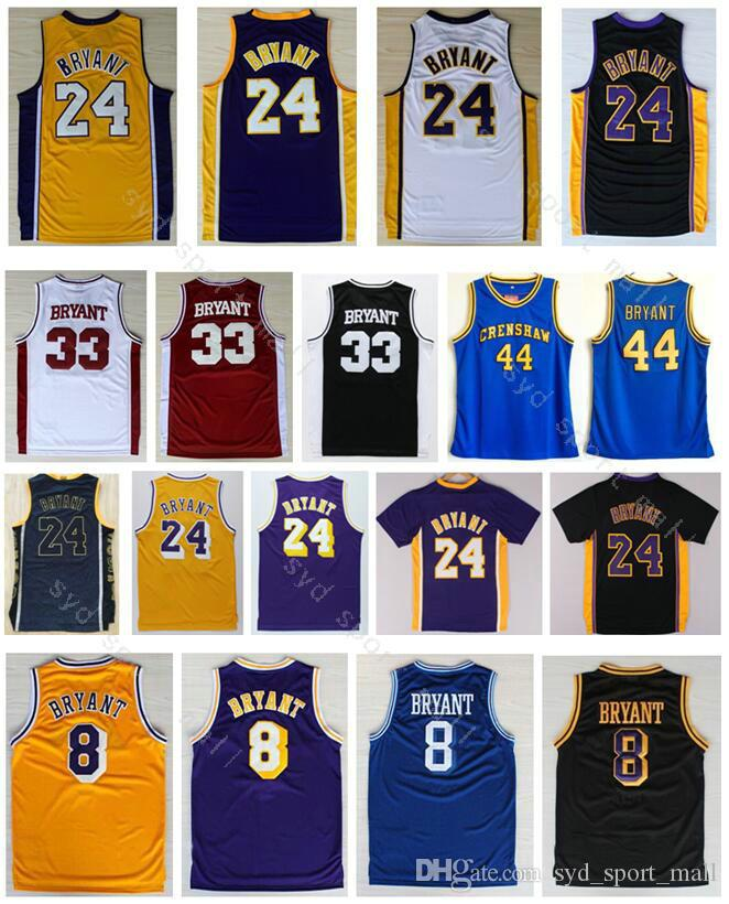 54618f2f63f ... australia retro stitched 24 kobe bryant jerseys basketball 44 hightower  crenshaw lower merion high school 33