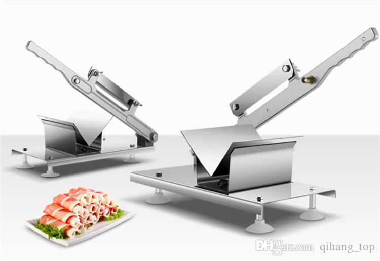 Qihang_top Manuelle Fleischwolf Beef und Hammelfleisch Slicer Home Hammelfleisch Fett Beef Rolls Machine Hand Cut Hammel Machine