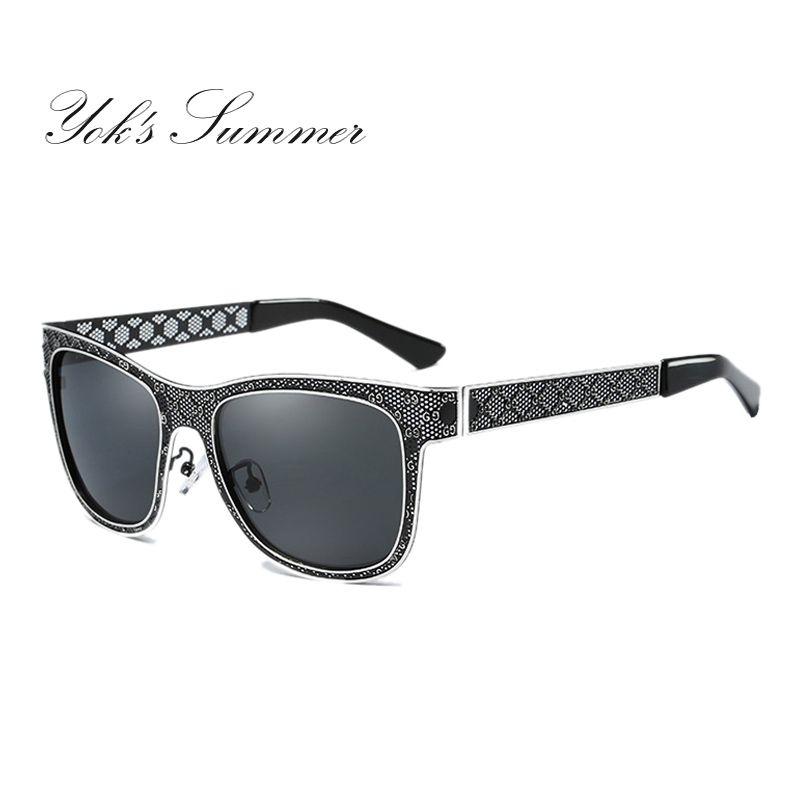 4761ee4530 Yok s Summer Square Polarized Sunglasses Women Brand Designer Hollow ...