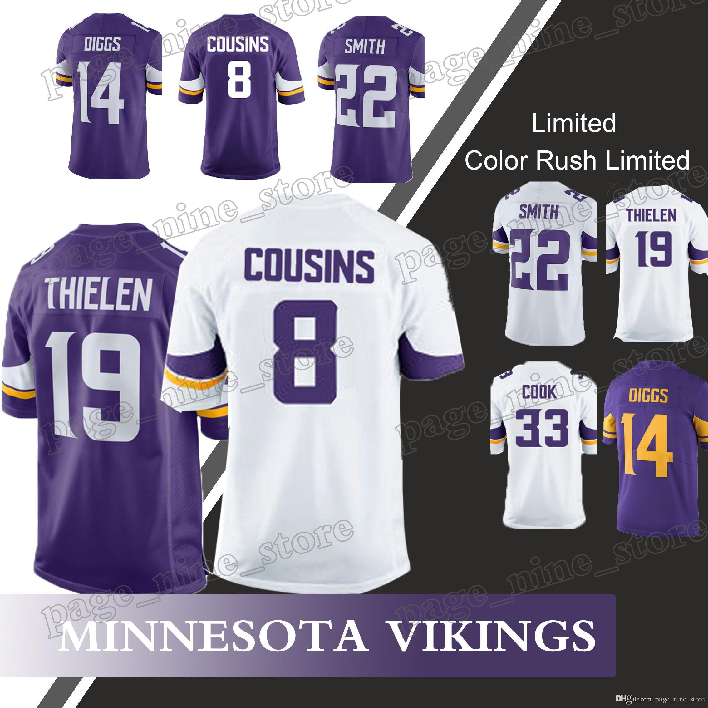 finest selection 81468 b1473 usa adam thielen 19 minnesota vikings jersey 8b029 d40d8