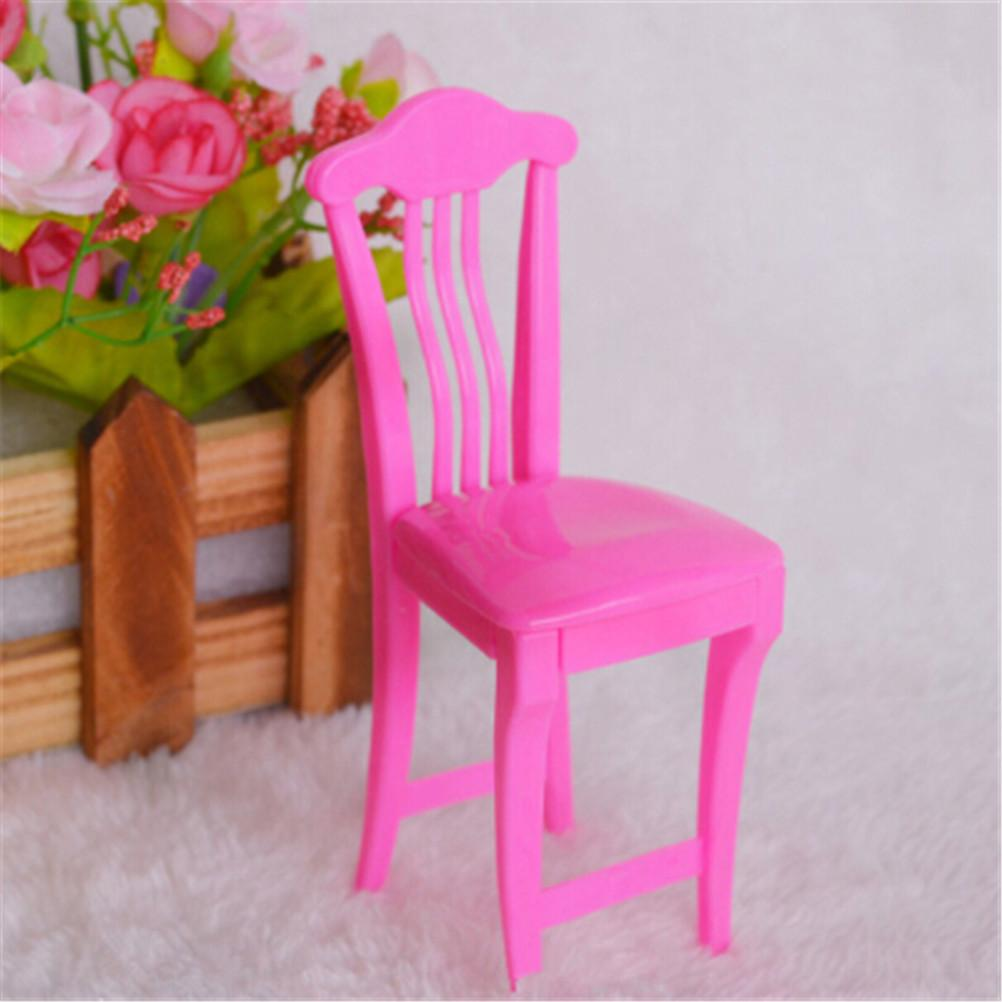 For Doll\'s House Accessories Children High Chair Toy Table Chair ...
