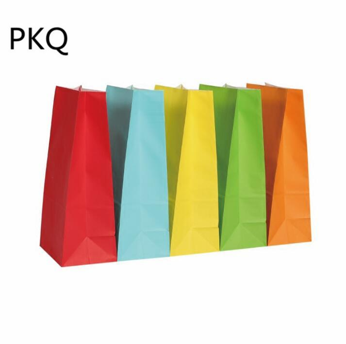 Stand Up Kraft Paper Bags Child Party Birthday Seal Gift Packing Treat Bag Supplies Wrap Boxes Christmas From Flymachine