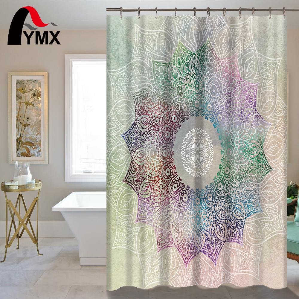 Wondrous Indian Mandala Shower Curtain Lotus Printed Bohemian Waterproof Bathroom Accessories Curtains Shower Polyester Fabric Wholesale Download Free Architecture Designs Philgrimeyleaguecom