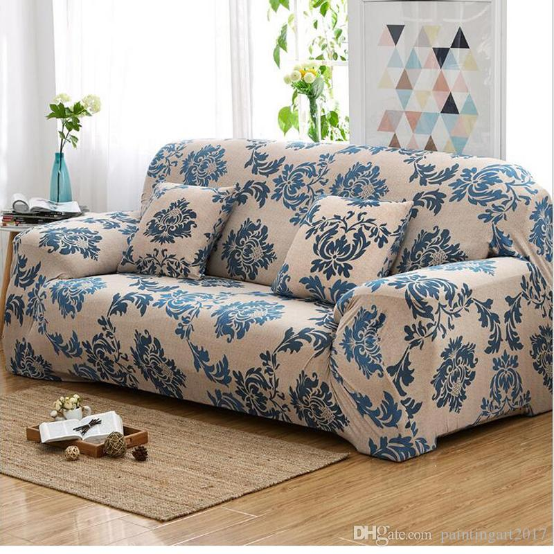 Printed Sofa Cover Universal Shaped Flower Protector Covers Couch