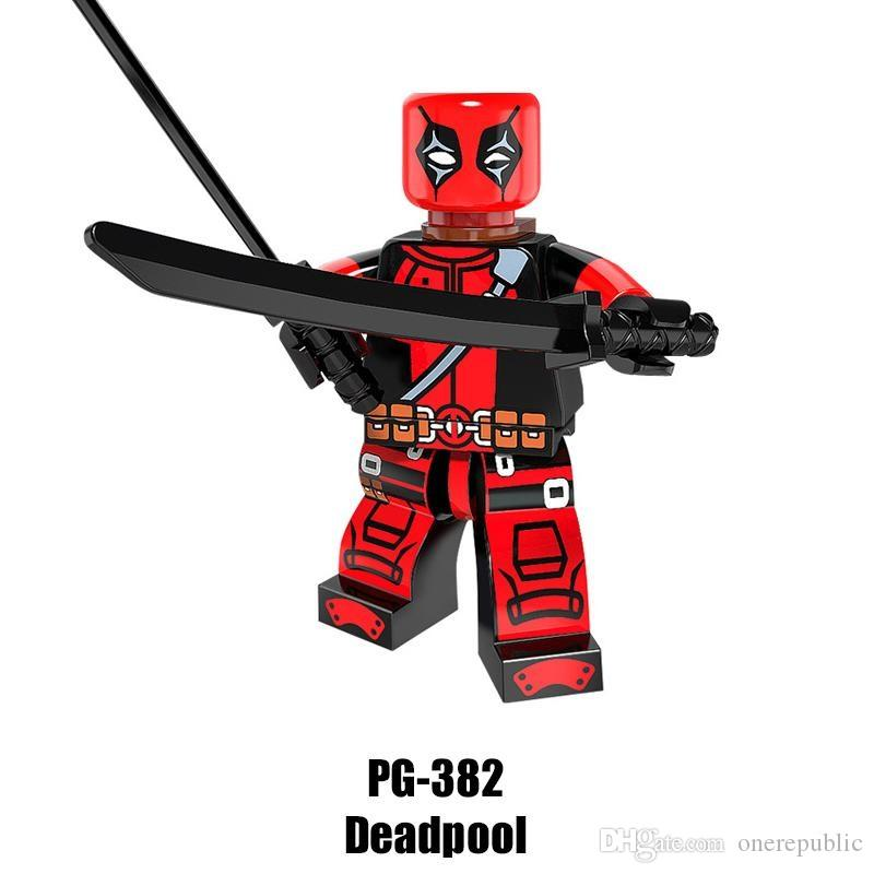 2019 Mix Super Heroes Minifig Big Bane Deadpool Captain America Miss USA  Wolverine Bat Figure PG8093 Mini Building Blocks Figures From Onerepublic,