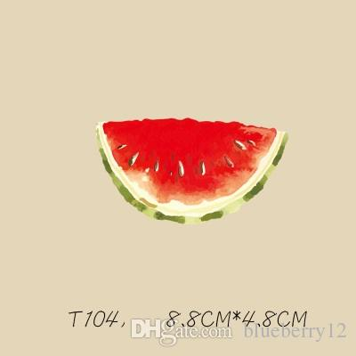 Summer Magic Sticker Cartoon Watermelon DIY Stickers For T shirt Funny Patches Iron-on Transfers Patches For Clothes