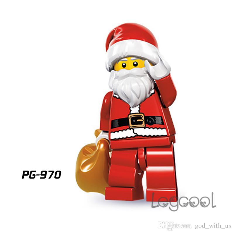 2018 pg970 santa claus building blocks christmas master yoda darth vader c 3po super heroes model action bricks best collection toys for children from