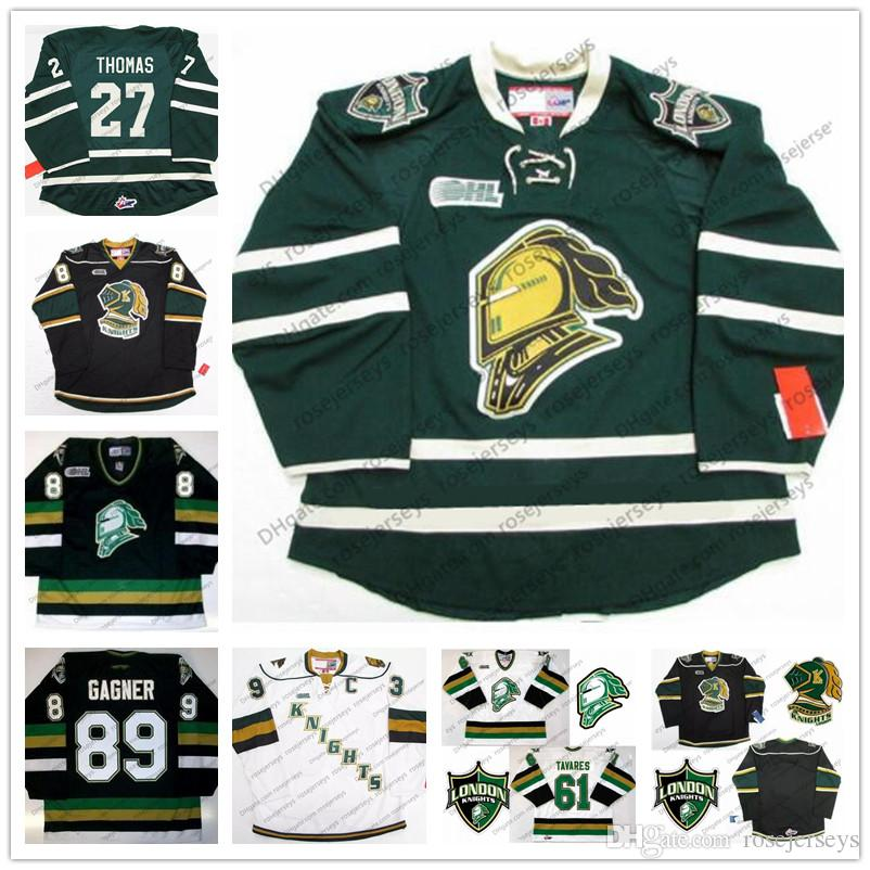 761c92c8a9a58f 2019 Custom CHL London Knights Hockey Jersey Black Green White #2 Evan  Bouchard 7 Shane Collins 13 Tyler Rollo Stitched Any Number Name S 4XL From  ...