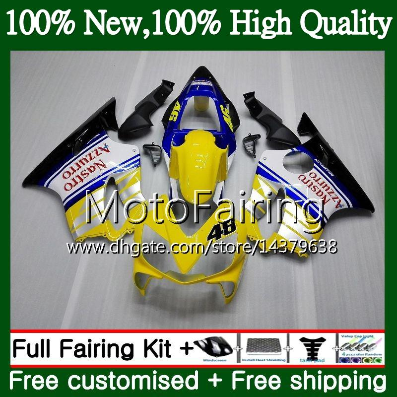 Body For HONDA CBR 600F4i CBR600 F4i 04 05 06 07 Yellow white 45MF18 CBR 600 F4i CBR600 FS CBR600F4i 2004 2005 2006 2007 Fairing Bodywork