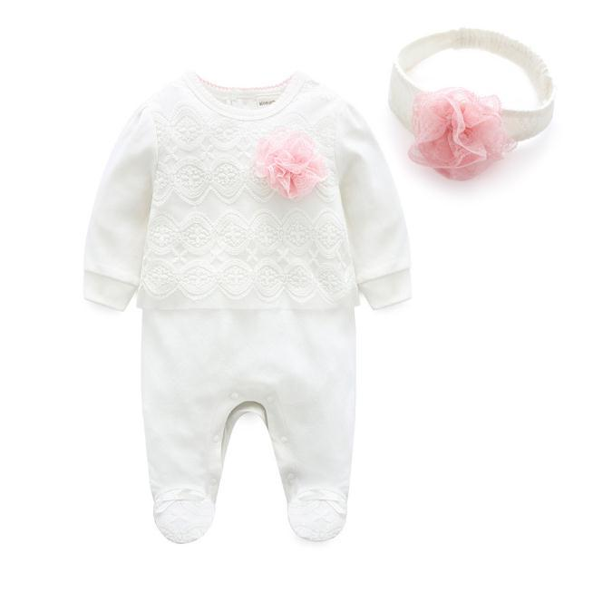 2dc1fcade Baby Romper Girl Set Princess Style Newborn Baby Girl Clothes Set ...