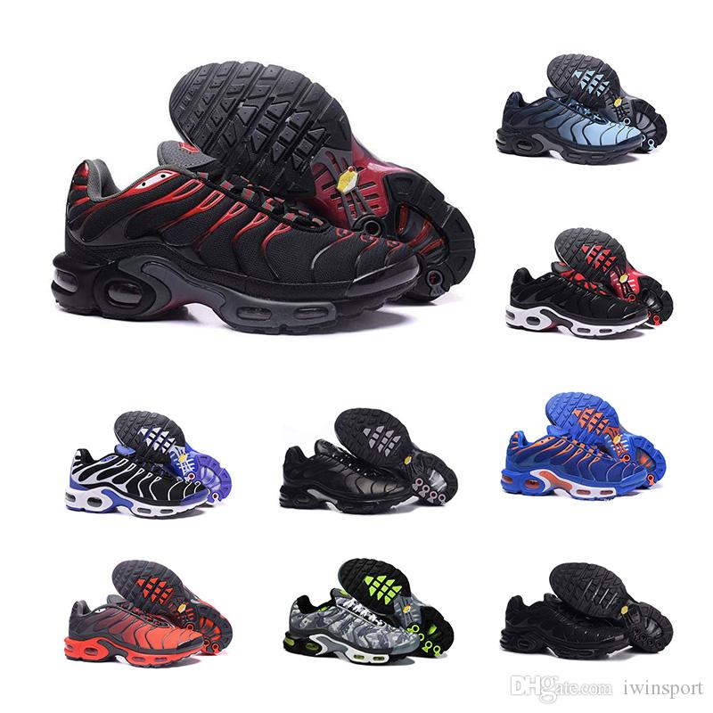 nike air max TN max TN Hot TN Plus Chaussures De Course En Plein Air Chaussures De Course tn Noir Blanc Sport Baskets De Sport Hommes requin Olive