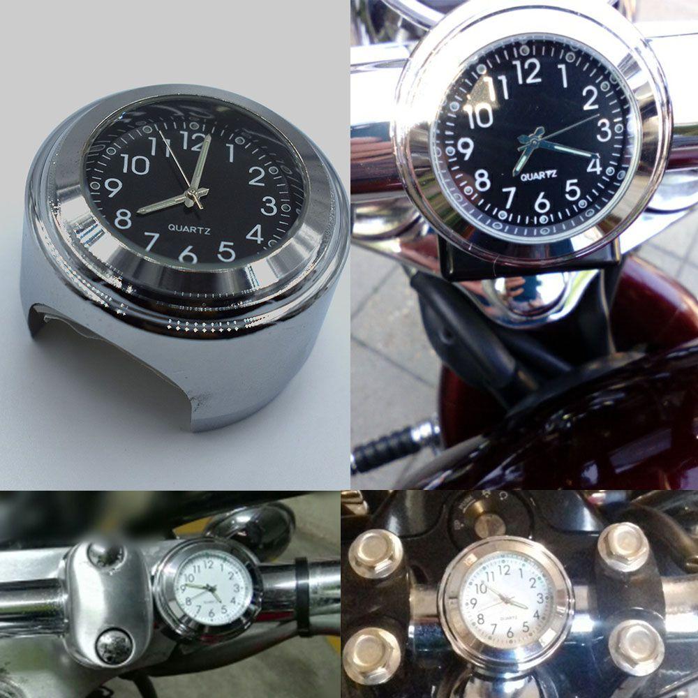 d13363766 Compre Para 7/8 Pulg. 1 Pulgada Universal Bicicleta Motocicleta Manillar  Dial Reloj De Reloj Base De Plástico Impermeable Lente De Vidrio A $9.24  Del Aibu ...