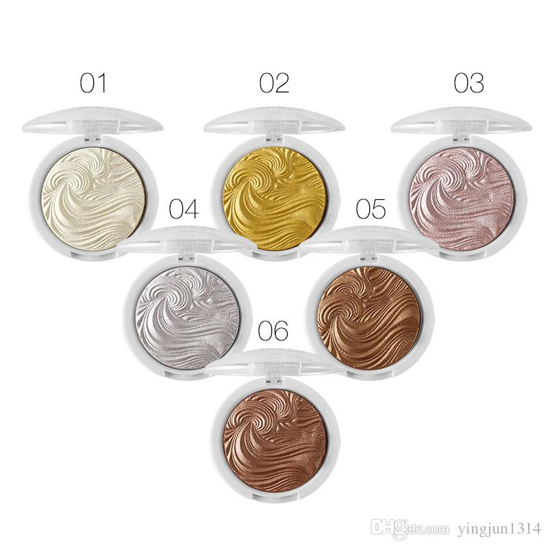 Wholesale 3D Shimmer Powder Highlighter Palette Face Base Illuminator Makeup Bronzers Highlight Contour Silver Golden