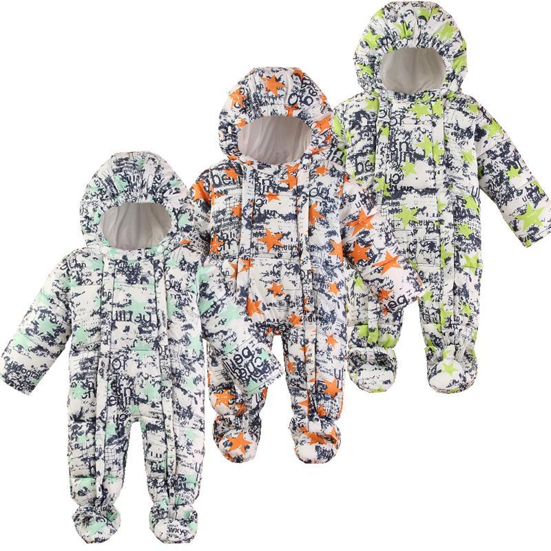 6c6215d9e 2019 Baby Snowsuit Winter Newborn Baby Rompers Warm Jumpsuit Snow ...