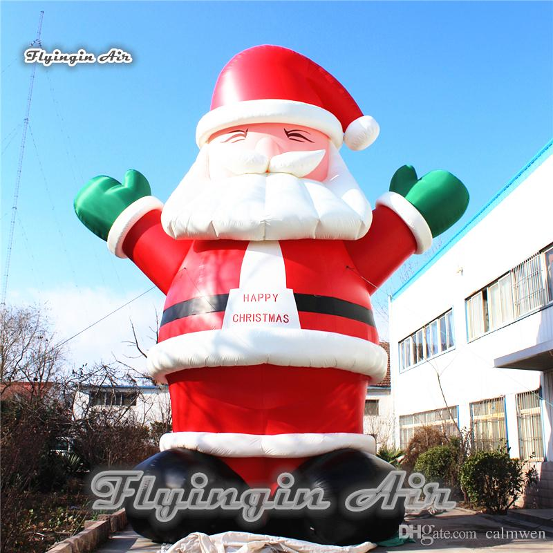 2018 inflatable christmas santa claus giant blow up father christmas airblown happy xmas decorations for outdoor supplies from calmwen 65327 dhgatecom