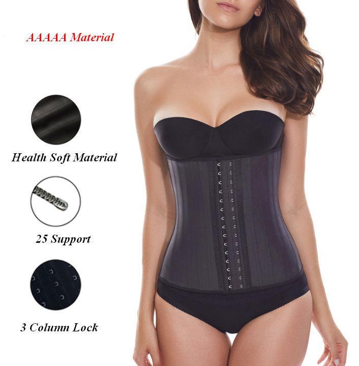 218cf28b71319 2019 25 Steel Boned Corset 100% Latex Waist Trainer Plus Size For Women Latex  Waist Cincher Hot Body Shaper Women Shapewear Ouc3052 From Meinuo110