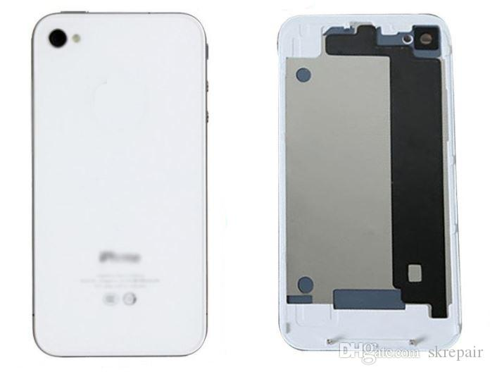 High quality New GLASS Battery door Back Cover Housing Replacement Part For iPhone 4 4G 4S repair battery cover