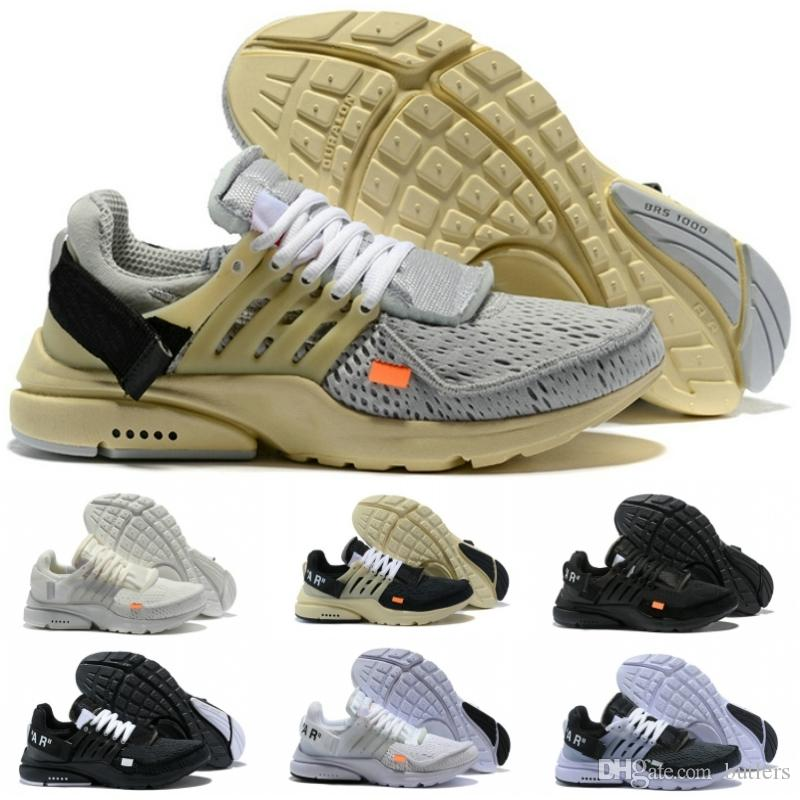 cheaper bef9e 84094 La Mejor Calidad Gris Caqui Presto Zapatillas Para Hombres Negro Naranja  2018 Nueva Off Diseño Zapatos Masculinos Mujeres Blanco Marfil Zapatillas  Atléticas ...