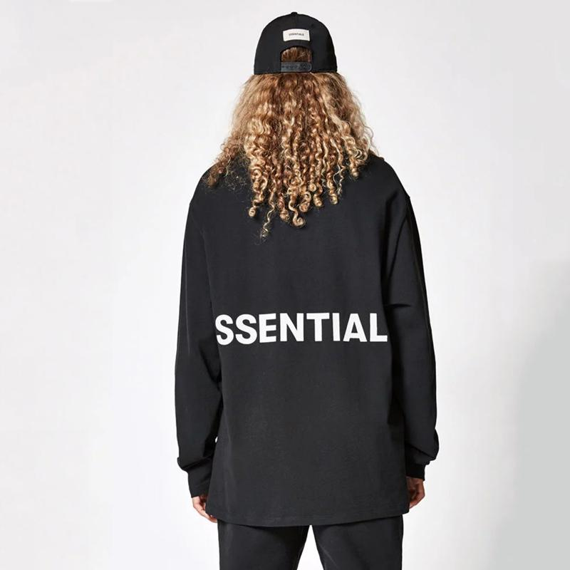 95aa76c97 2019 FOG FEAR OF GOD Essentials LOGO TEE T Shirt Sweatshirt Luxury Casual  Simple Street Pullover Long Sleeve Outwear Hoodies HFYMWY024 From  Hanfei001, ...