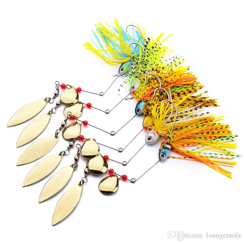 Tassels Beard Alloy Fishing Lures 18g Colorful Artificial Metal Bait Composite Sequins Make A Strong Noise 3 8sb WW