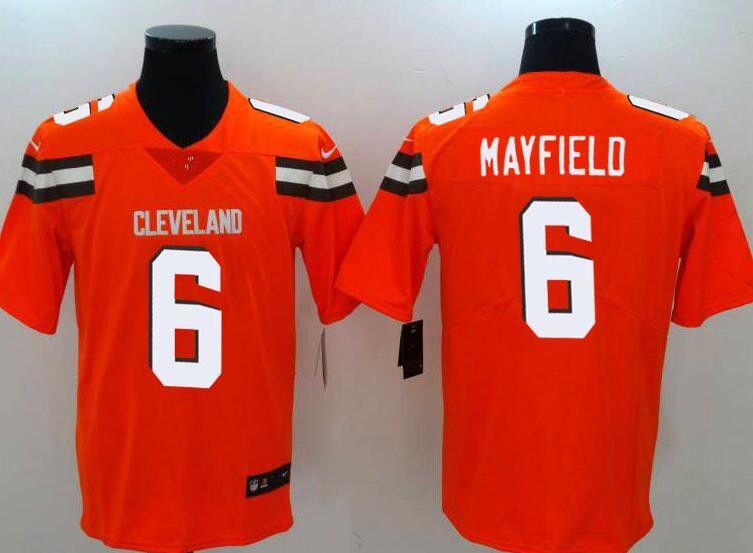 36ca2152f 2019 Cleveland Browns 6 Baker Mayfield 21 Denzel Ward Jersey 80 Jarvis  Landry 95 Myles Garrett 73 Thomas 22 Jabrill Peppers Chubb From  Poloshirthhh