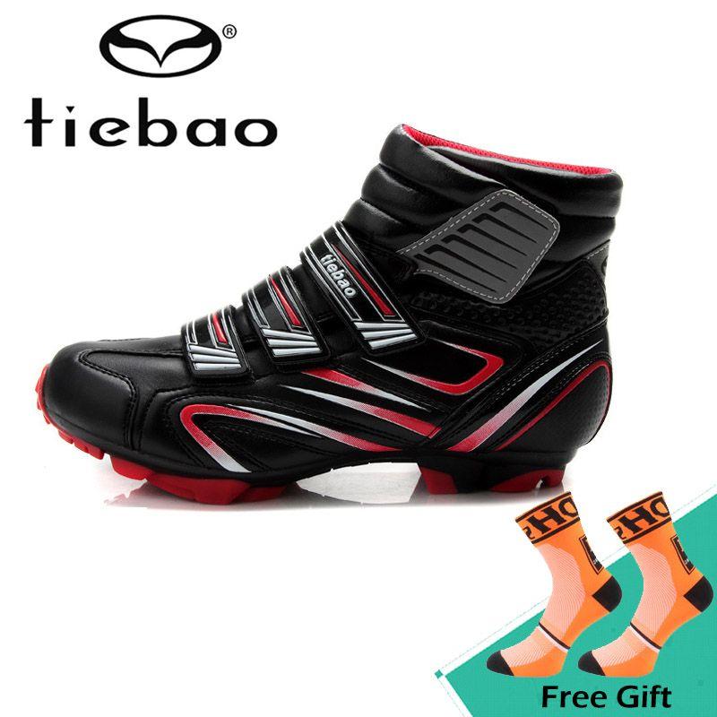 Tiebao Winter Men Soft Cycling Shoes Outdoor Warm Bike Bicycle Shoes
