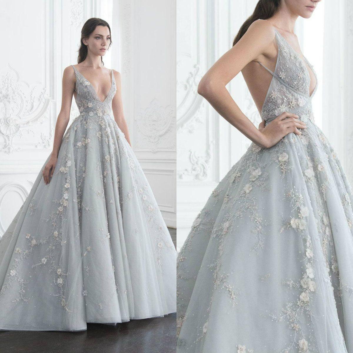 Deep V Prom Dress