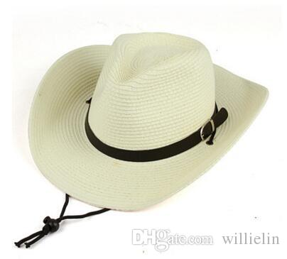 Men S Western Cowboy Hat Women S Tidal Beach Hat Sunblock Big Brim Hat Small  Summer Sunshade Straw Hats In The Belfry Knit Hats From Willielin a39234af033