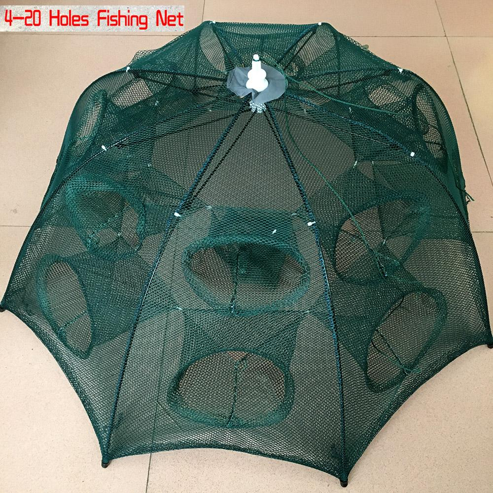 automatic NEW Automatic Shrimp Cage Nylon Foldable Crab Fish Trap Cast Net Cast Folding Fishing Network
