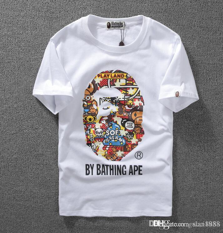 083fc1da0 High-quality 2018 New Style Men's Camo Short Sleeved Aape T-Shirts ...