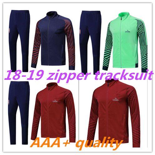 23536c829 ARSENAL Tracksuit 18 19 M Salah Survetement Full Zipper Football ...
