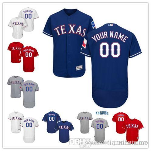 4a56ff947 2016 Flexbase Custom Men s Ts Rangers cool base Authentic Collection  Personalized Double Stitched Baseball Jersey S-3XL