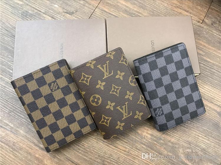 Neue 2018 Designer Tote Brieftasche Hohe Qualität Leder Luxus Männer kurze Brieftaschen für Frauen Männer Geldbörse Handtasche