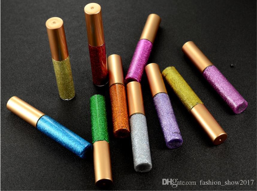 반짝이는 액체 아이 라이너 휴대용 빛나는 메이크업 액체 아이 라이너 연필 오래 지속되는 빠른 건조 미용 화장품 반짝 아이 라이너