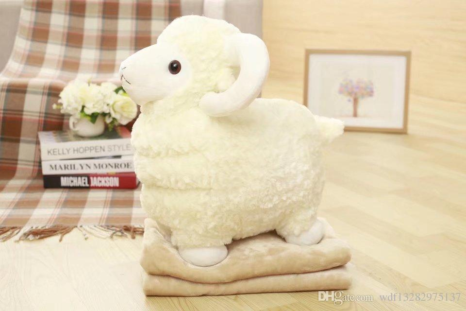 Creative Carton Sheep Doll Stuffed Toys Baby Lambs Birthday Gift For
