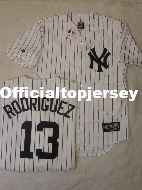 7d6a973ed Cheap Custom MAJESTIC New York #13 ALEX RODRIGUEZ W/Name SEWN ...