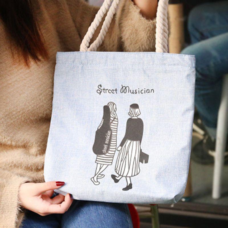 2019 Moda Yüksek Kalite Tuval Kadın Çantası Kadın Çanta Kızlar Casual Omuz Çantaları Öğrencilerin Çevre Koruma Alışveriş Çantası