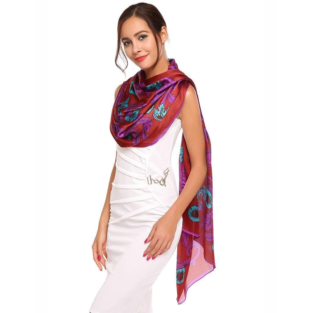 7c753455967c2 Imitation Fashion Women Silk Large Satin Square Soft Feeling Scarf Hijab  Bandana From Duoyun